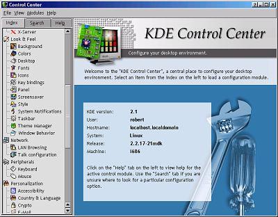KDE2 Control Center