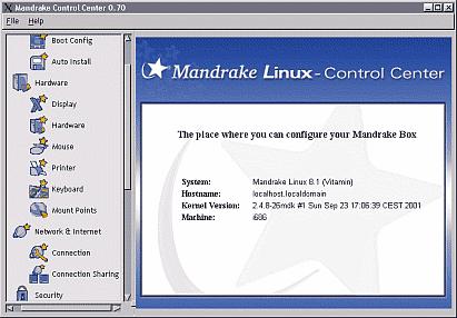 Mandrake Control Center