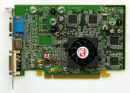 PCI Express x16 ATI módra: ATI Radeon X600 XT