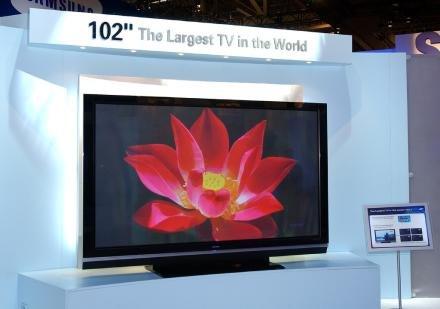 259 centiméter átlójú plazma TV a Samsungtól