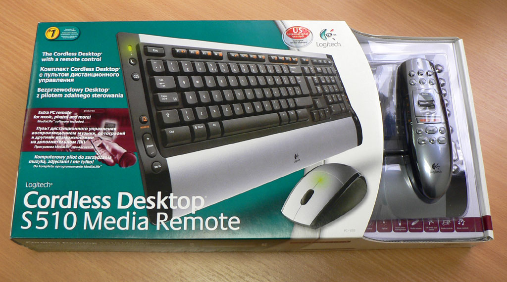 cordless desktop s510 media remote test: