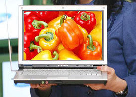 Samsung Q35 noteszgép a leggyorsabb Core Duóval