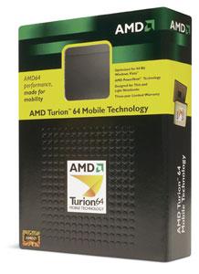 Dobozos AMD Turion 64 processzor