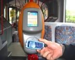 RFID-terminál a buszon