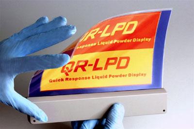 QR-LPD (Quick Response Liquid Powder Display)