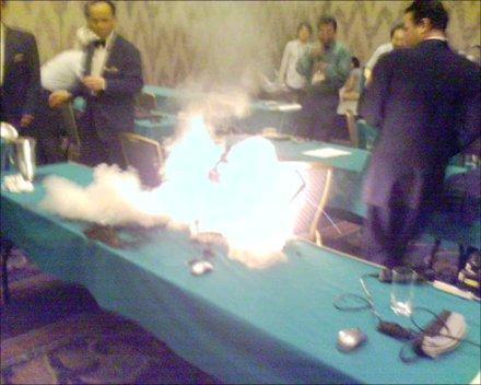 Felrobbanó Dell notebook, Oszakában