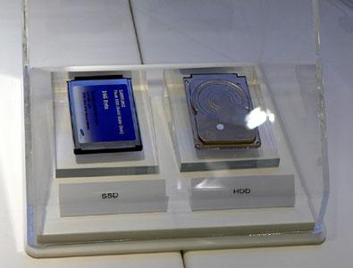 Samsung SSD-meghajtó a 2006-os CeBIT-en