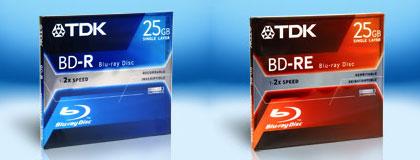 A TDK Blu-ray lemezei