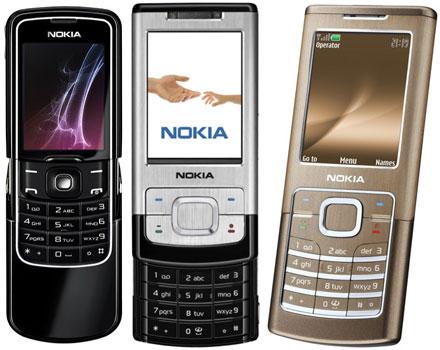 Nokia 8600 Luna, 6500 slide és 6500 classic
