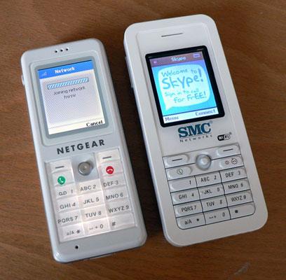 Netgear és SMC Skype-telefonok
