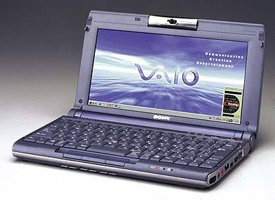Transmeta processzoros VAIO C1VE Picturebook beépített, forgatható kamerával