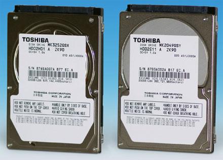 Toshiba merevlemezek