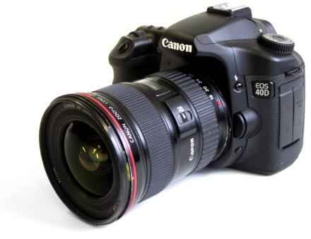 Canon EOS 40D a 16-35-ös optikával