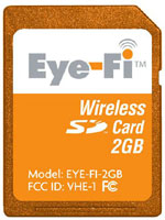 Eye-Fi beépített Wi-Fi-vel