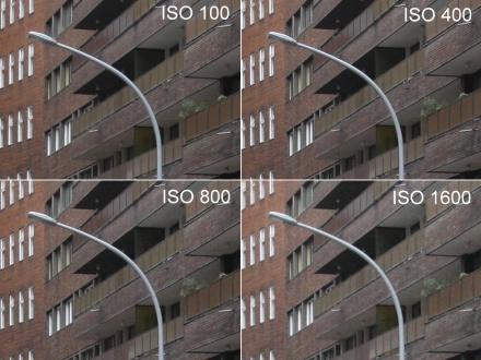 A képre kattintva megfigyelhető a különböző ISO beállításokhoz tartozó zajszint