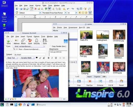 Linspire 6.0 munkaasztal