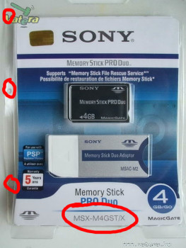 Hamis Sony Memory Stick Pro Duo