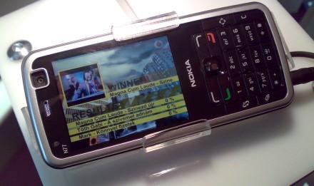 Nokia N77 mobiltévé