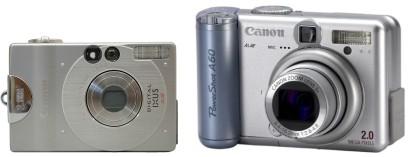 A kezdetek: 2 megapixeles Canon Digital IXUS és PowerShot A60