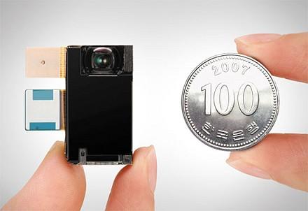A Samsung legújabb 8 megapixeles modulja fél milliméterrel vékonyabb a gyártó jelenlegi 5 megapixeles egységénél
