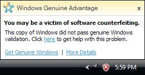 Windows Vista WGA