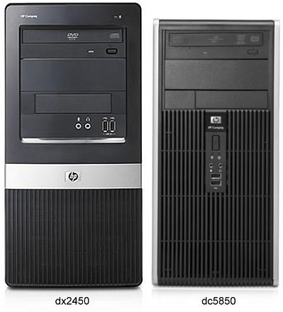 HP Compaq dc5850 és HP Compaq dx2450