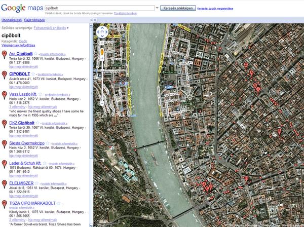 térkép magyarország google Magyarországon is elindult a Google Maps   HWSW térkép magyarország google