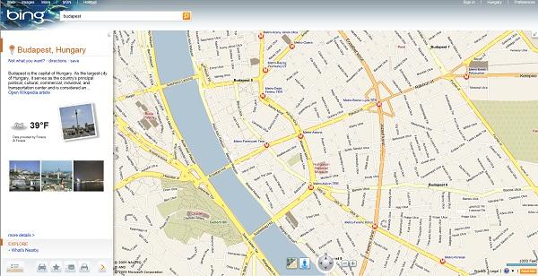 budapest térkép megyeri híd A Microsoft kiüti a Google Mapset?   HWSW budapest térkép megyeri híd