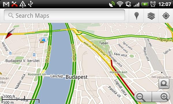 google térkép jelölések Mutatja a dugókat a magyar Google Maps   HWSW