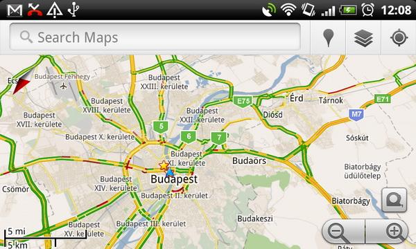 forgalom térkép Mutatja a dugókat a magyar Google Maps   HWSW forgalom térkép