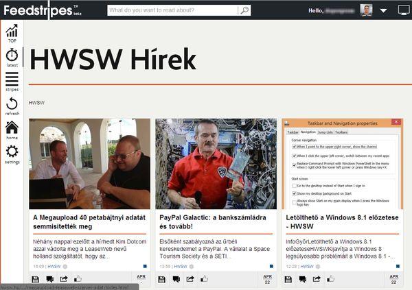 Ígéretes magyar fejlesztésű RSS hírolvasók: Feedstripes és a többiek