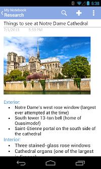 Jegyzetkészítő program Androidra - itt az új Microsoft OneNote app