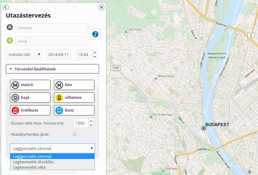 budapest térkép útvonaltervező tömegközlekedés Valós idejű járműkövetés és útvonalterv a BKK tól   HWSW budapest térkép útvonaltervező tömegközlekedés