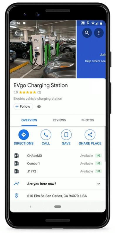 googlemapscharging